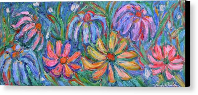 Flowers Canvas Print featuring the painting Imaginary Flowers by Kendall Kessler