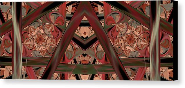 Abstract Canvas Print featuring the digital art Look Within - Abstract by Georgiana Romanovna