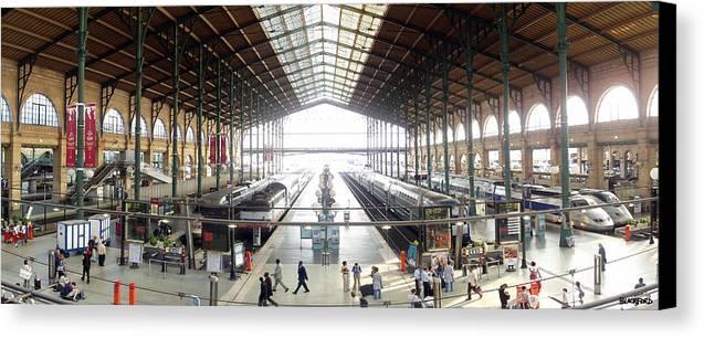 Paris Canvas Print featuring the photograph Paris Train Station by Al Blackford