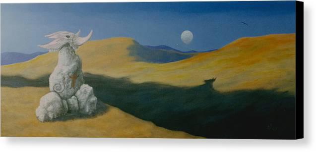Native Canvas Print featuring the painting Spirit Land by Arnold Isbister