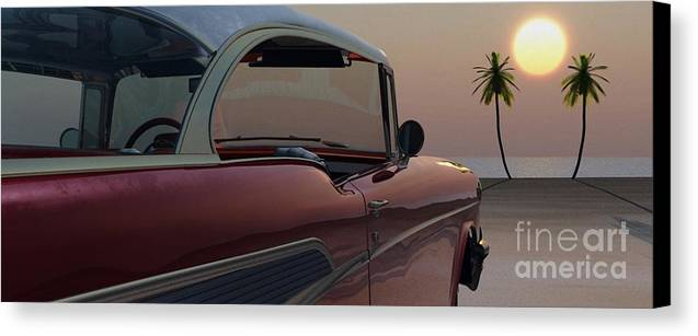 Automotive Canvas Print featuring the digital art Tropical Delight by Richard Rizzo