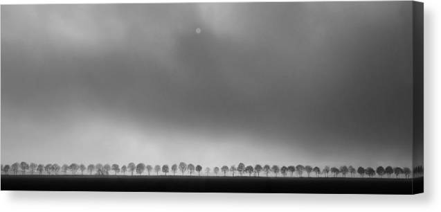 Landscape Canvas Print featuring the photograph Polderlandscape by Huib Limberg