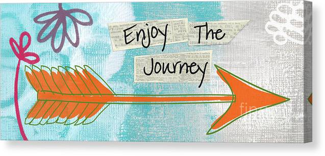 Arrow Canvas Print featuring the painting The Journey by Linda Woods