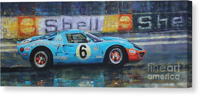 1969 Le Mans 24 Ford Gt40 Jacky Ickx Jackie Oliver Winner Canvas Print