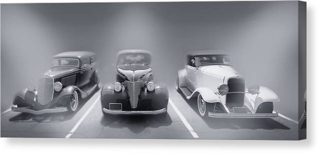 Hot Rod Canvas Print featuring the photograph Hot Rod Power Black And White Poster by Dapixara Art