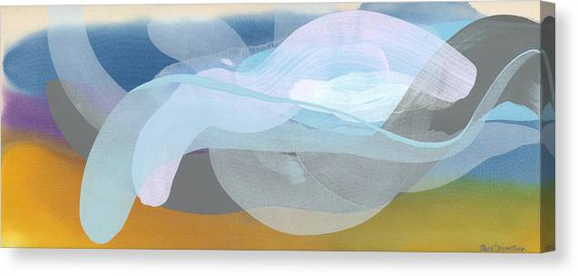 Abstract Canvas Print featuring the painting Sleep In Past 8 by Claire Desjardins