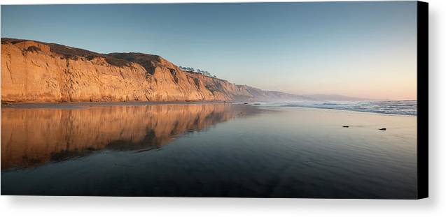 San Diego Canvas Print featuring the photograph Torrey Pines Clear Skies And Sunset by William Dunigan