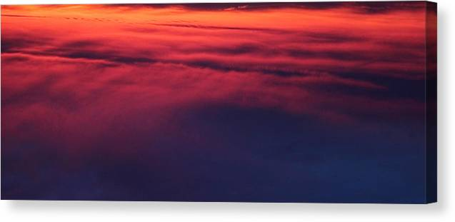 Sky Canvas Print featuring the photograph Red Night Sky By Earl's Photography by Earl Eells a