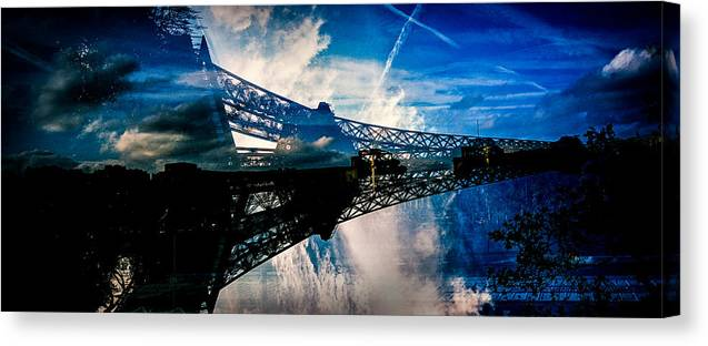Xpanded Photography Canvas Print featuring the pyrography Blue Sky In Paris by Cyril Jayant