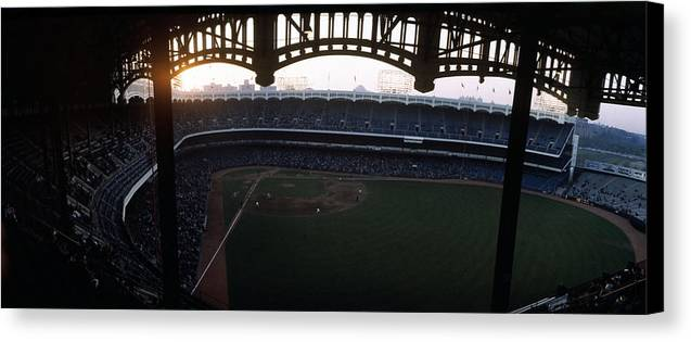 Marvin Newman Canvas Print featuring the photograph Beatiful View Of Old Yankee Stadium by Retro Images Archive