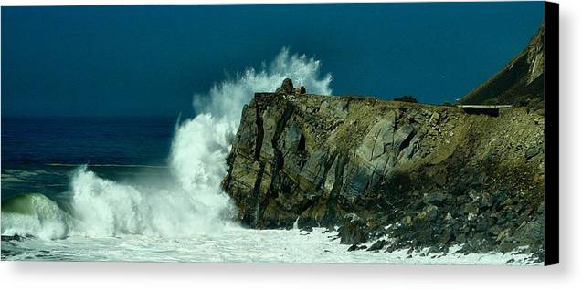 Mugu Rock Canvas Print featuring the photograph Hueneme by Michael Gordon