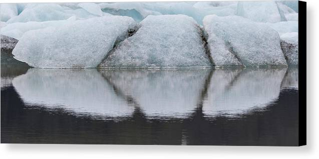 Bill Young Canvas Print featuring the photograph Iceland Fjallsjokull Glacier Reflects by Jaynes Gallery
