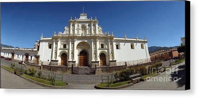 C122204 Canvas Print featuring the photograph La Antigua Cathedral by Ty Lee