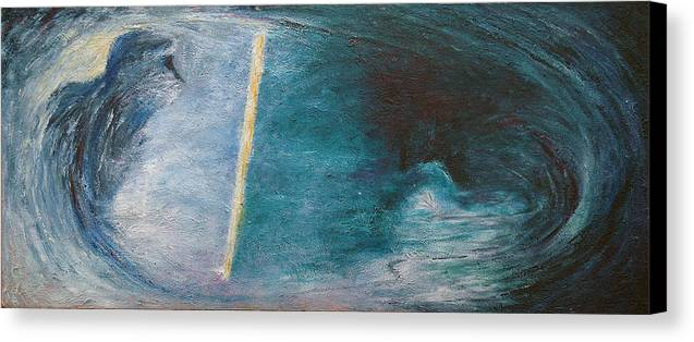 Expressionistic Canvas Print featuring the painting Looking Glass by Wayne Carlisi