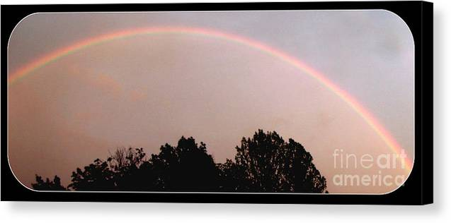 Real Photo Canvas Print featuring the photograph Rainbow Arch Display by Gail Matthews
