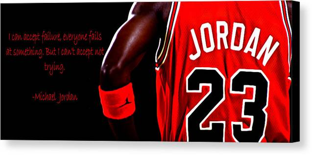 Professional Basketball Player Canvas Print featuring the digital art Success Quote 2 by Brian Reaves