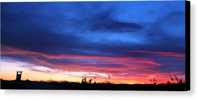 New Mexico Canvas Print featuring the photograph A Deeper Blue by JC Findley