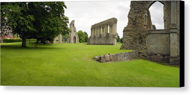 England Canvas Print featuring the photograph Glastonbury Abbey Ruins by Jan W Faul