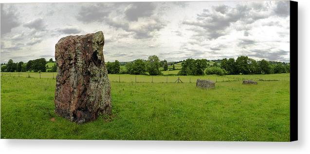 England Canvas Print featuring the photograph Stanton Drew Standing Stone by Jan W Faul