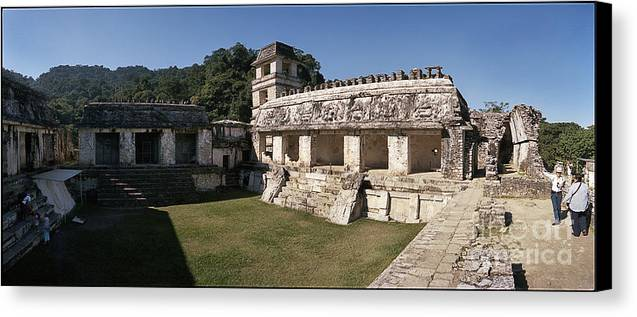 C120802 Canvas Print featuring the photograph The Palace  Palenque by Ty Lee