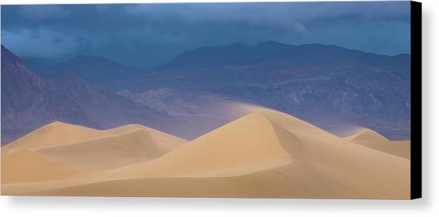 Death Valley Canvas Print featuring the photograph Spindrift by Richard Siggins