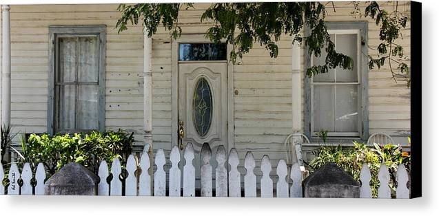 724 Key West Door Canvas Print featuring the photograph 724 Key West Door by Ed Smith