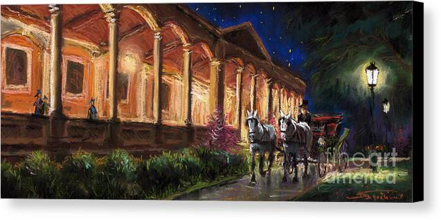 Pastel Canvas Print featuring the painting Germany Baden-baden 13 by Yuriy Shevchuk