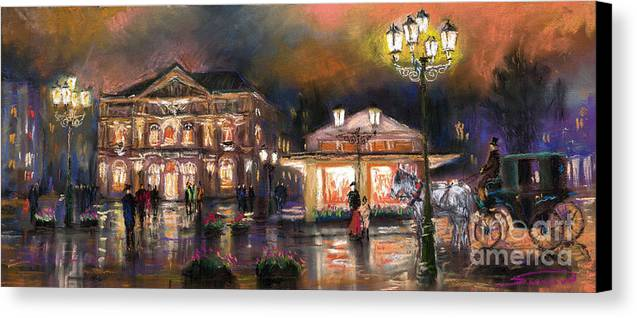 Pastel Canvas Print featuring the painting Germany Baden-baden 14 by Yuriy Shevchuk