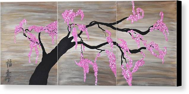 Pink Flowers  Pink Cherry Blossoms Art  Contemporary   Flower Cherry  Blossom Wall Art