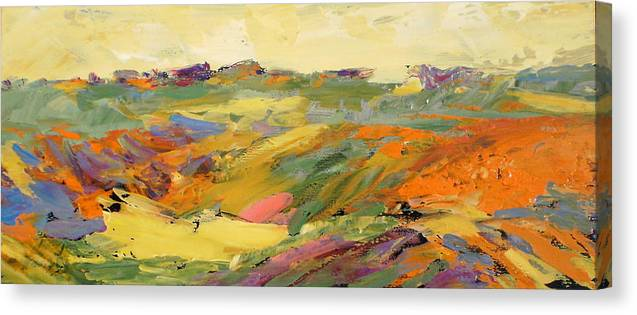 Marilynhurst Canvas Print featuring the painting Heartland Series/springtime by Marilyn Hurst