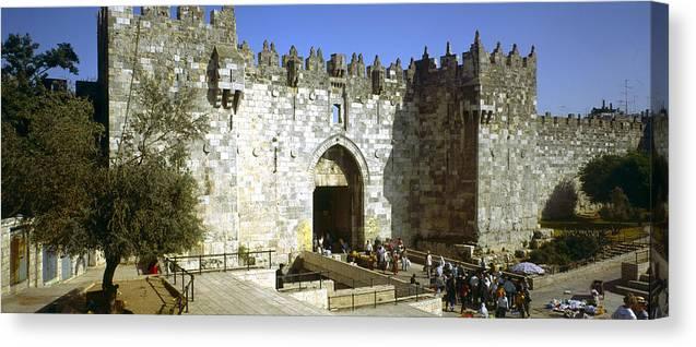 Damascus Gate Canvas Print featuring the photograph Damascus Gate Jerusalem by Daniel Blatt