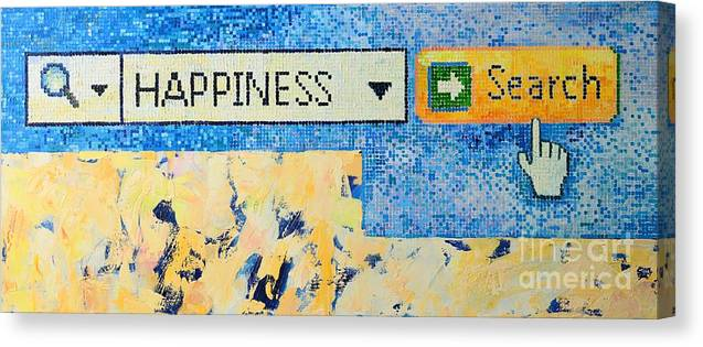 Happiness Canvas Print featuring the painting Happiness by Ana Maria Edulescu