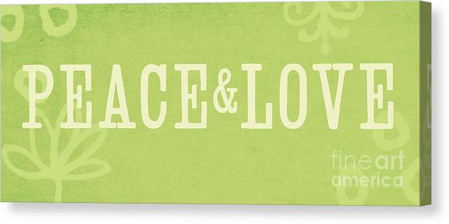 Peace Canvas Print featuring the painting Peace And Love by Linda Woods