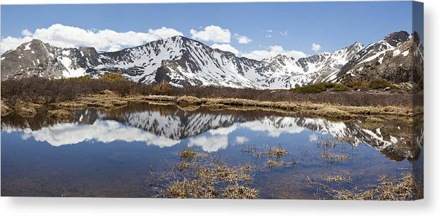 Mountains Canvas Print featuring the photograph Sawatch Range In Spring by Sean McClay