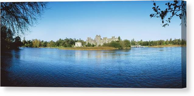 Archaeology Canvas Print featuring the photograph Ashford Castle Hotel, Near Cong, Co by The Irish Image Collection