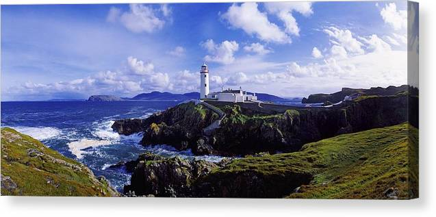 �fanad Head Canvas Print featuring the photograph Waves Breaking On The Coast With A by The Irish Image Collection