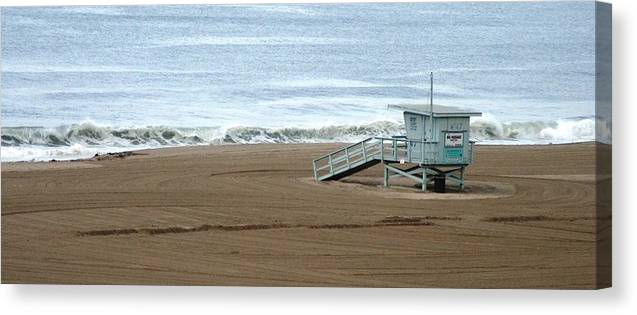Beach Canvas Print featuring the photograph Life Guard Stand - Color by Shari Chavira
