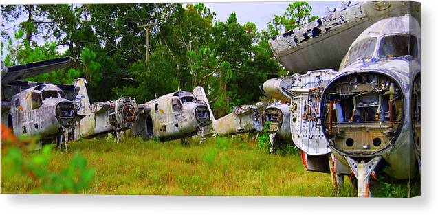 Navy Canvas Print featuring the photograph Navy S-2 Graveyard 2 by Rick Schlosser II