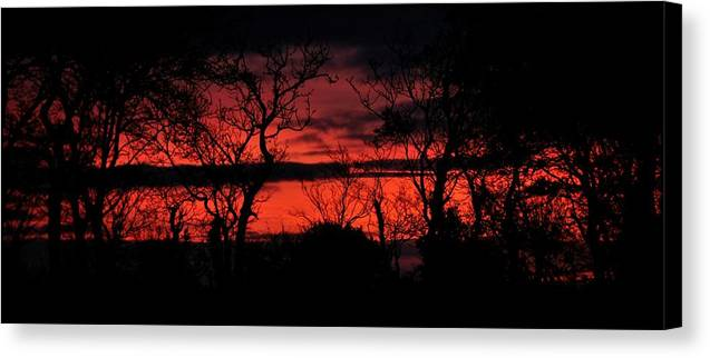 Sunrise Canvas Print featuring the photograph Sunrise Over The Fields Of Athenry by Lars Tovander