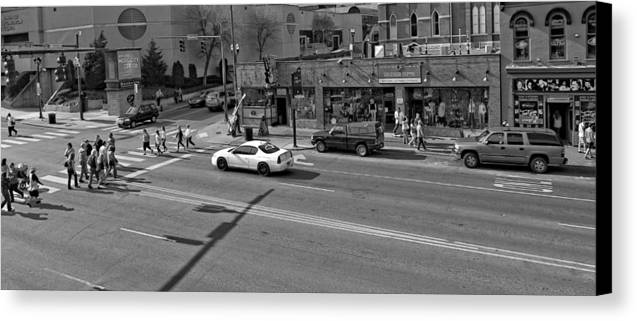 Downtown Nashville Legends Corner Canvas Print featuring the photograph Downtown Nashville Legends Corner by Dan Sproul