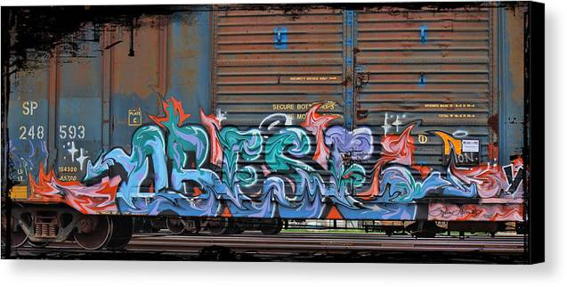 Graffiti Canvas Print featuring the photograph Fruit Icee by Sylvia Thornton