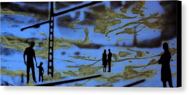 Silhouette Canvas Print featuring the photograph Lost In Translation - Serigrafia Arte Urbano by Arte Venezia