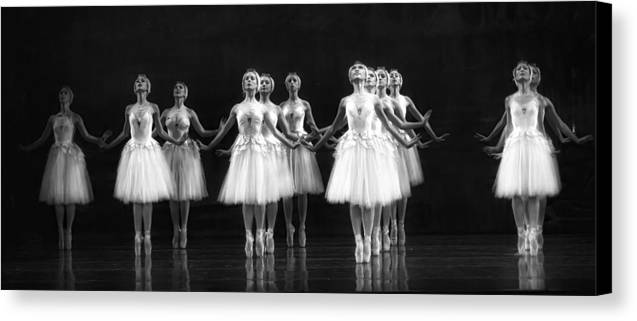 Dance Canvas Print featuring the photograph All In A Row by Kenneth Mucke