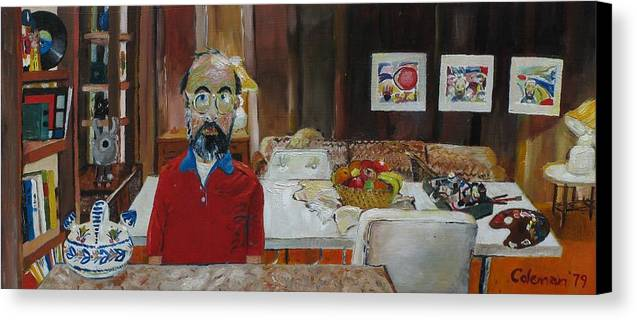Self Portrait Canvas Print featuring the painting Still Life by Gary Coleman