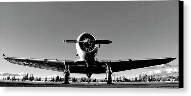 Airplane Canvas Print featuring the photograph Vintage Bomber by Neil Pankler
