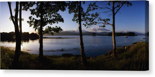 Bay Canvas Print featuring the photograph Kenmare Bay, Ring Of Kerry In Bg, Co by The Irish Image Collection