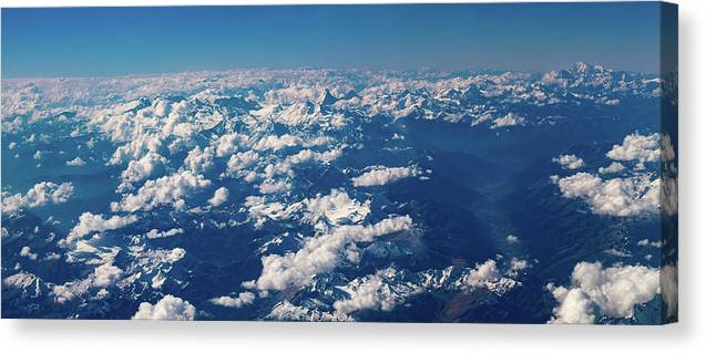 Landscape Canvas Print featuring the photograph Aerial View by Nikos Stavrakas