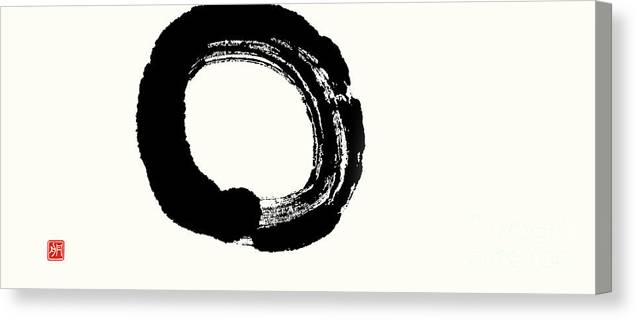 Enso Canvas Print featuring the painting Enso - Enlightenment Unfolding by Nadja Van Ghelue