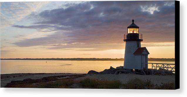 Nantucket Canvas Print featuring the photograph Brant Point Dawn - Nantucket by Henry Krauzyk