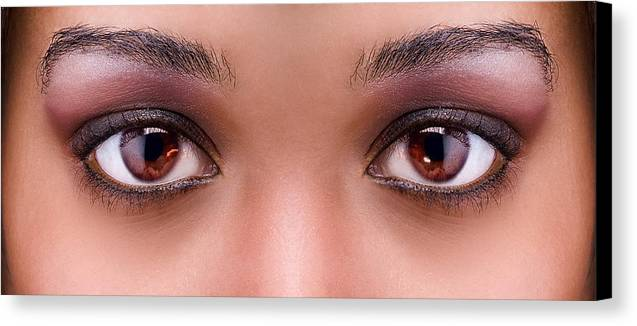 Eyes Canvas Print featuring the photograph Stunning Eyes by Val Black Russian Tourchin